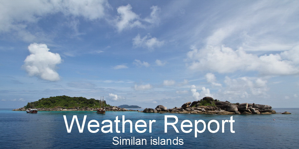 Weather report Similan islands